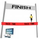 Design på din datorskärm, avsluta linjeband med text och logotyp