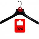 Sats på 100 garderobsnummertaggar av plast