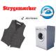 Stryk på namnetikett och tvättmaskin