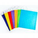 Pappersfestivalsarmband i olika färger utan tryck