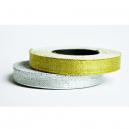 Ribbon rullar i metalliskt silver och metallguld för textilband
