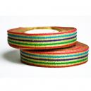 Fancy bandrulle med metalliskt flerfärgsmönster för vävband