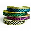 Fancy bandrulle i metalliska checkar för textilband