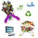 Design online bukettband med text och logotyp