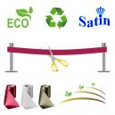 Invigningband utan tryck. Organisk, miljövänlig och hållbar.