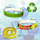 Festival tygarmband tillverkat av återvunnen PET-polyester