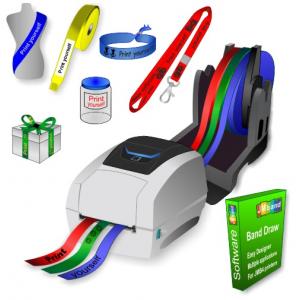 JMB4+ termisk skrivare som skriver ut på rullar av pappersband, polyesterband och polyprotexband
