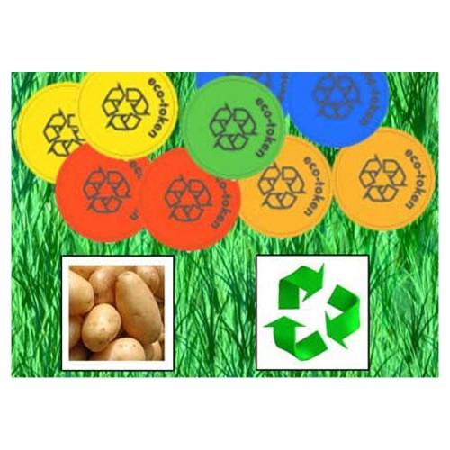 Hållbara polletter av potatisstärkelse