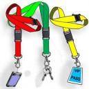 Nyckelband polyester utan tryc