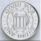 Aluminiumtoken med text och logotyp
