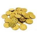 Mynt och tokens gjorda av mässing