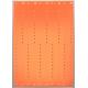 Pläterade plastband i orange