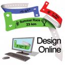 Design online plastband med logo och text