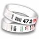 Race nummer armband med streckkod och sekventiell numrering