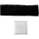 Adhesiva kardborrlås för att fästa breda band på en sash