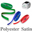 Smala polyester satinband