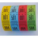 Coat check biljetter med 2 delar