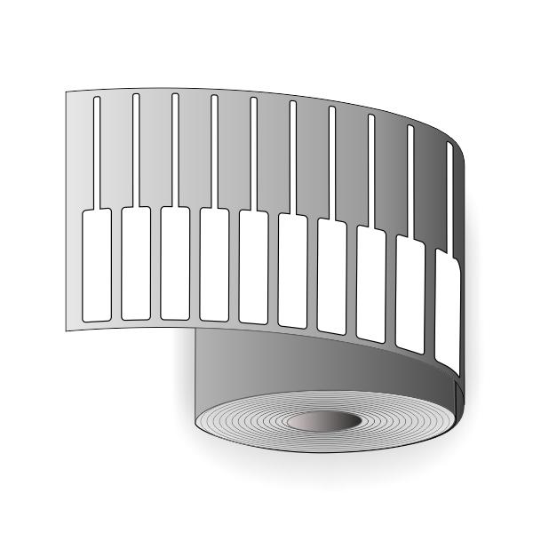 Etiketter för utskrift av smycketiketter på en termisk överföringsskrivare
