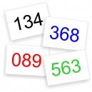 Nummerlappar färger I lager