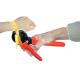 Krympverktyg för pressning av tätning på textilband