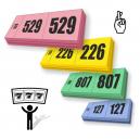 Prissättningslotterbiljetter 3 delar med sekventiell numrering