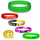Silikon armband präglade Via eMail