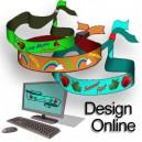 Textilarmband vävt Design själv