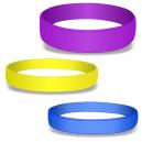Blank silikonarmband i färger