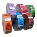 Dricksbiljetter och kuponger i olika färger