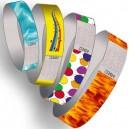 Papper armband förväg tryckt multi färger