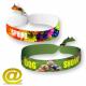 Polyester textilfestival armbandsur tryckt i fullfärg