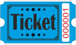 Ticket biljetter - Blå